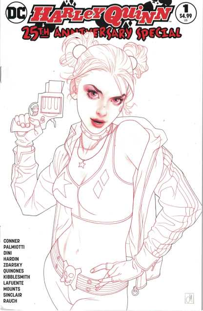 Harley Quinn 25th Anniversary #1 Jetpack Comics Josh Middleton Sketch Variant