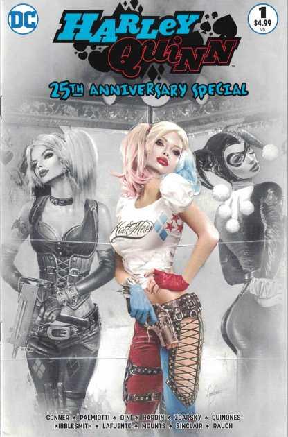 Harley Quinn 25th Anniversary #1 Natali Sanders Partial B&W Variant DC