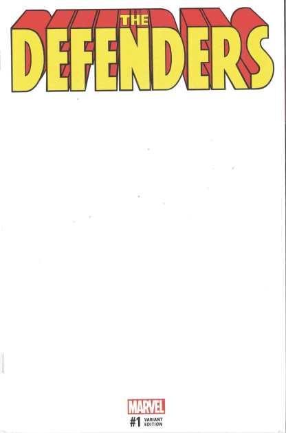 Defenders #1 Unlocked Blank Sketch Variant 2017