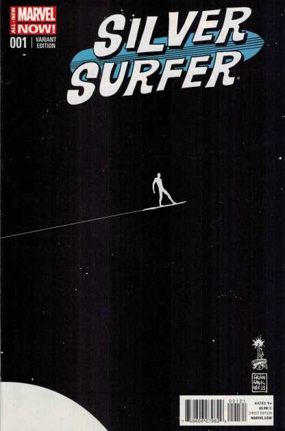 Silver Surfer #1 1:50 Francavilla Marvel 2014 ANMN Variant HTF Rare!!