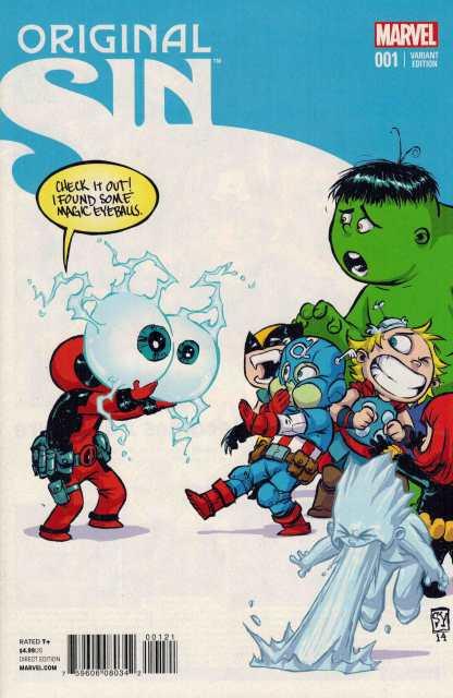 Original Sin #1 Skottie Young Marvel Baby Variant 2014 Deadpool