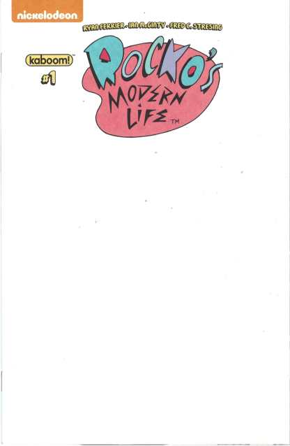 Rocko's Modern Life #1 Blank Sketch Variant Boom 2017