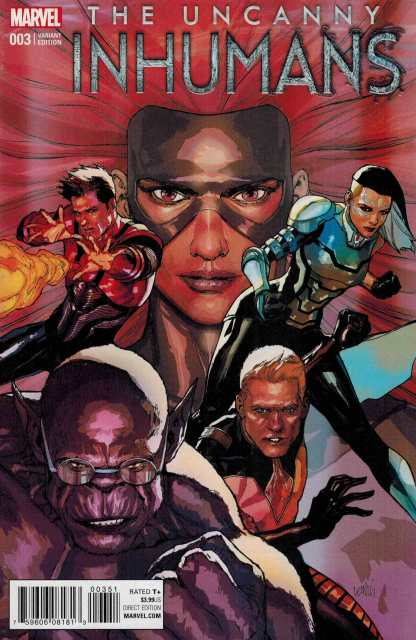 Uncanny Inhumans #3 1:25 Lenil Francis Yu Variant Marvel ANAD 2015
