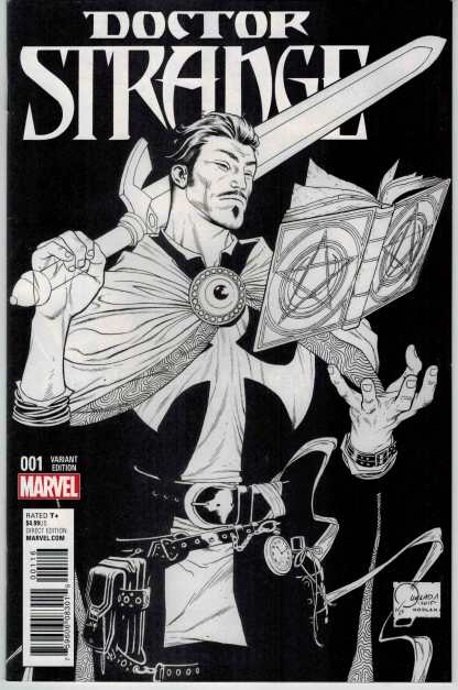 Doctor Strange #1 1:100 Joe Quesada Sketch Variant VF/NM Very Fine/NM 2015 ANAD