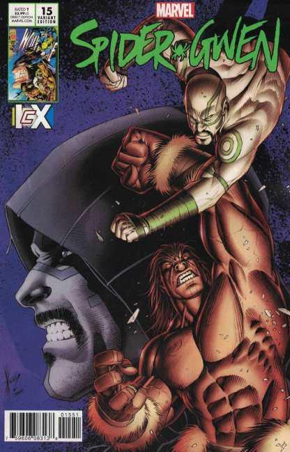 Spider-Gwen #16 Dale Keown ICX Variant ANAD Marvel 2015 Wolverine Homage