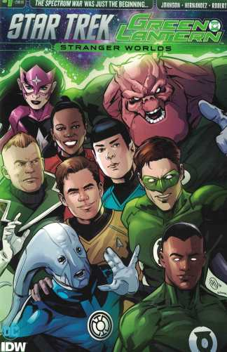 Star Trek Green Lantern Vol 2 #1 1:10 Angel Hernandez Variant IDW DC 2016