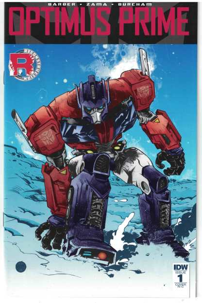 Optimus Prime #1 1:50 Paul Pope Variant Cover RI-C IDW 2016 Transformers RARE