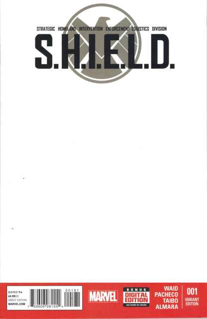 SHIELD #1 (2014) BLANK Variant
