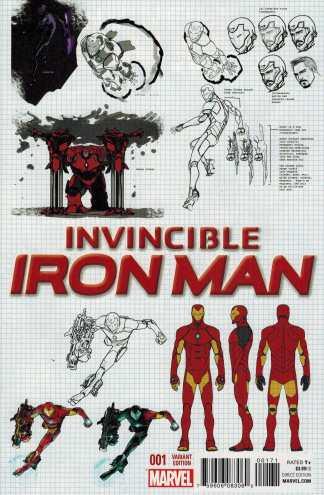 Invincible Iron Man #1 1:25 Marquez Design Variant Marvel ANAD 2015