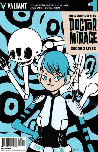 Doctor Mirage Second Lives #1 1:20 Skelly Variant Valiant Dr 2015