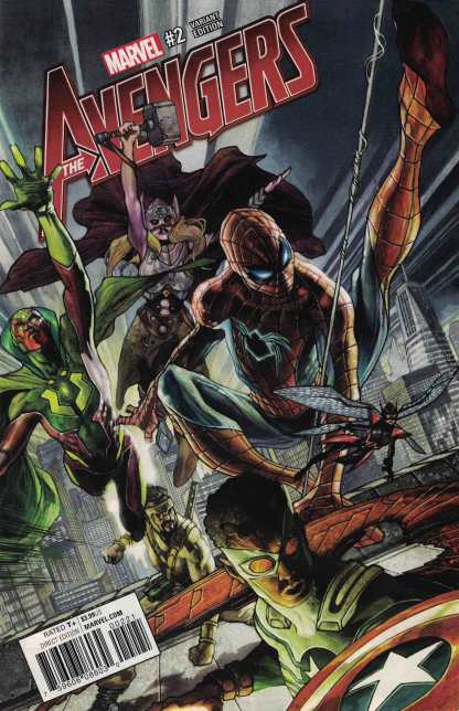 Avengers #2 1:25 Simone Bianchi Variant NOW Marvel 2016