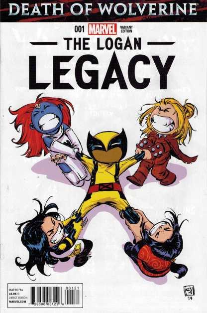 Death of Wolverine Logan Legacy #1 Skottie Young Marvel Baby Variant 2014