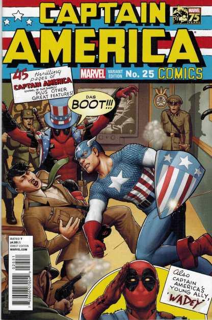 Captain America #25 1:25 75th Anniversary Deadpool Variant