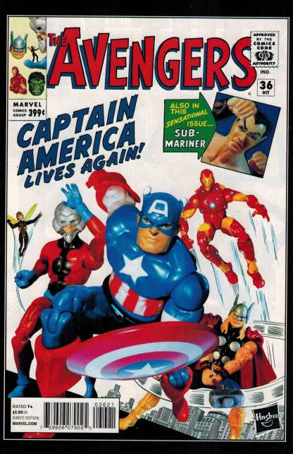Avengers #36 1:15 Hasbro Action Figure Variant Marvel NOW 2012