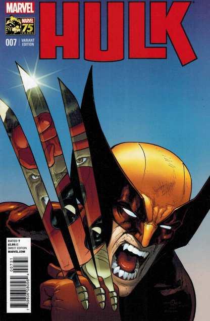 Hulk #7 1:25 David Marquez Deadpool 75th Anniversary Variant