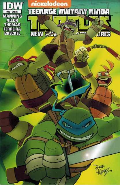 Teenage Mutant Ninja Turtles New Animated Adventures #16 1:10 RI Variant TMNT