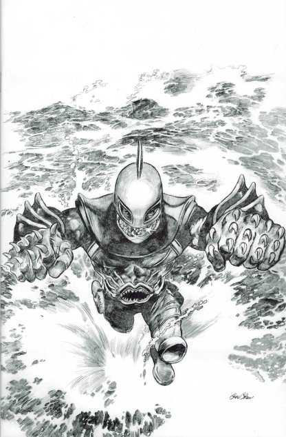 Shark-Man #1 Gene Colon Sketch Vatiant