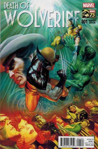 Death of Wolverine #1 1:75 Alex Ross Color Variant Marvel 2014