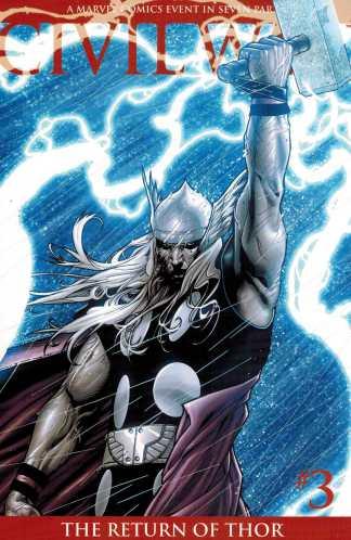 Civil War #3 Second Printing Steve McNiven Variant Thor Low Print Run HTF