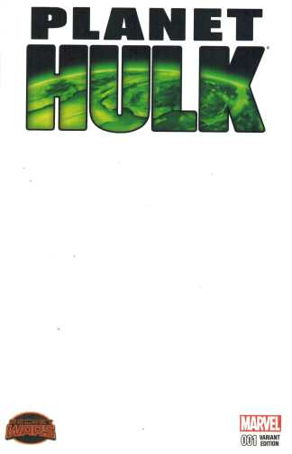 Planet Hulk #1 Blank Sketch Variant Secret Wars Marvel 2015 Immortal Incredible