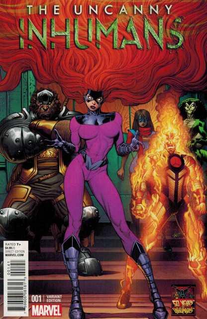 Uncanny Inhumans #1 1:50 Art Adams Variant Medusa Marvel ANAD 2015