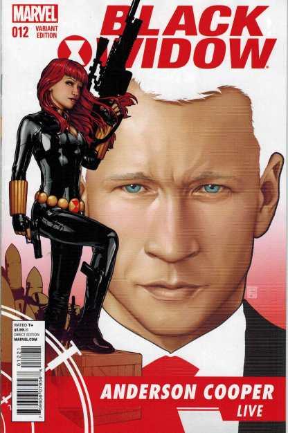 Black Widow #12 1:25 Anderson Cooper Christopher Variant
