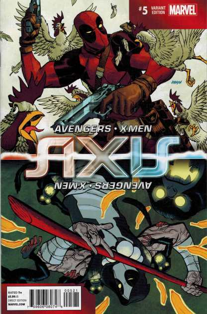 Axis #5 1:100 Dave Johnson Inversion Variant Deadpool