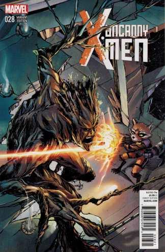 Uncanny X-Men #28 Marvel NOW 2013 Rocket and Groot Variant