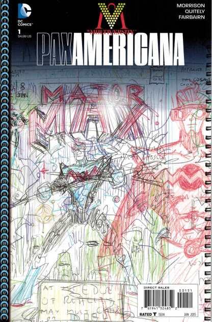 Multiversity Pax Americana #1 1:100 Grant Morrison Sketch Variant