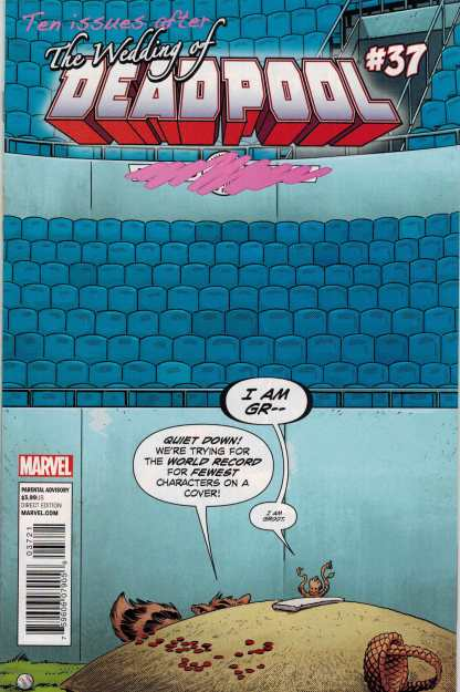 Deadpool #37 Rocket and Groot Variant NOW Guardians 2012