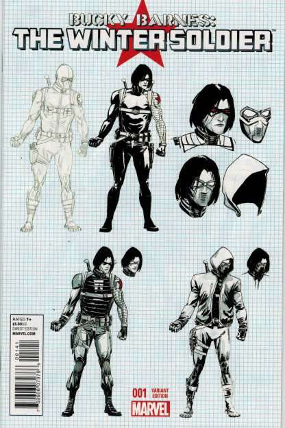 Bucky Barnes the Winter Solder #1 1:25 Rudy Design Variant