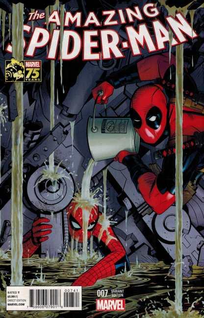 Amazing Spider-Man #7 1:25 Deadpool 75th Anniversary Variant ANMN 2014 Marvel