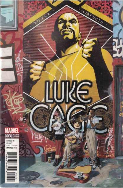 Luke Cage #3 1:25 Julian Totino Tedesco Variant Marvel 2017