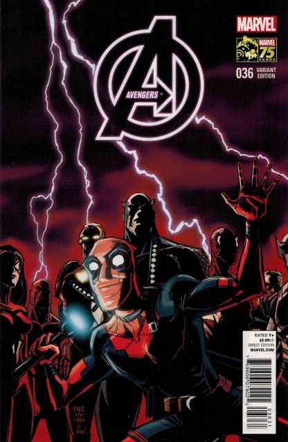 Avengers #36 1:25 Rubio Deadpool 75th Anniversary Variant