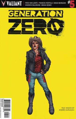 Generation Zero #5 1:10 Guinaldo Character Design Variant Cover D Valiant 2016