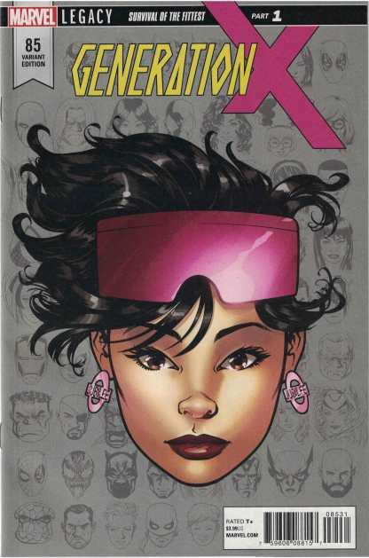 Generation X #85 1:10 Mike McKone Headshot Variant Marvel Legacy