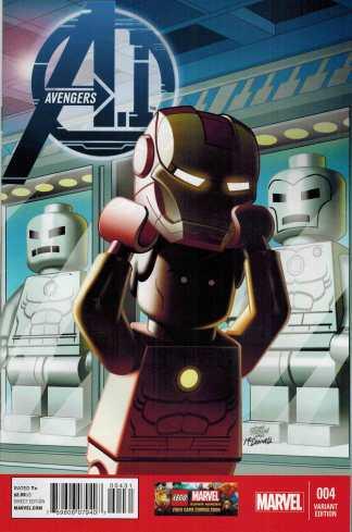 Avengers AI #4 1:25 Lego Color Variant Castellani A.I. Marvel NOW Iron Man