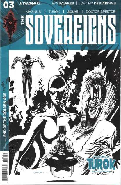 The Sovereigns #3 1:10 Dylan Burnett B&W Variant Dynamite 2017