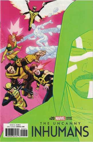 Uncanny Inhumans #20 1:25 Declan Shalvey, Jordie Bellaire IVX Variant Marvel