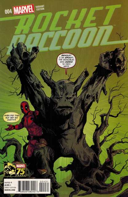 Rocket Raccoon #4 1:25 Deadpool 75th Anniversary Variant