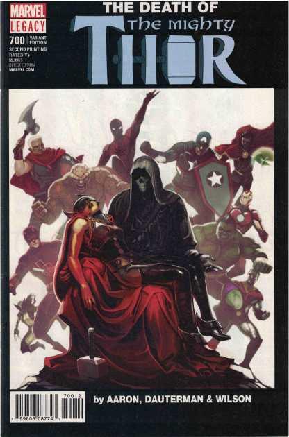 Mighty Thor #700 Stephanie Hans Variant 2nd Print Marvel Legacy 2017