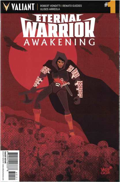 Eternal Warrior Awakening #1 1:20 Jeffrey Veregge Valiant Variant 2017