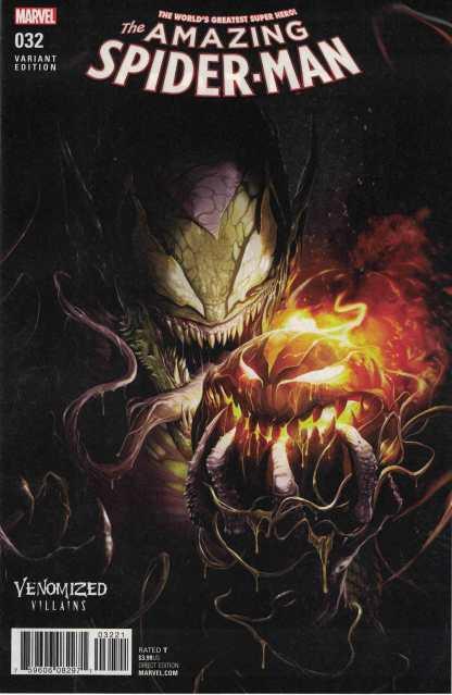 Amazing Spider-Man #32 Unlocked Francesco Mattina Venomized Green Goblin Marvel