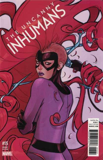 Uncanny Inhumans #15 1:25 Karl Kerschl Variant Marvel ANAD 2015 Medusa