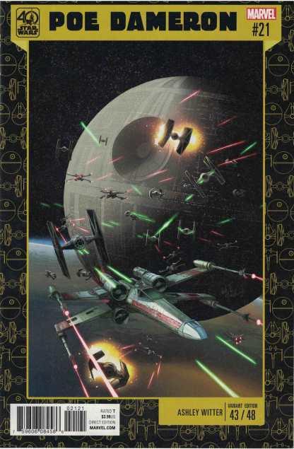 Star Wars Poe Dameron #21 Unlocked Ashley Witter 40th Anniversary Variant Marvel