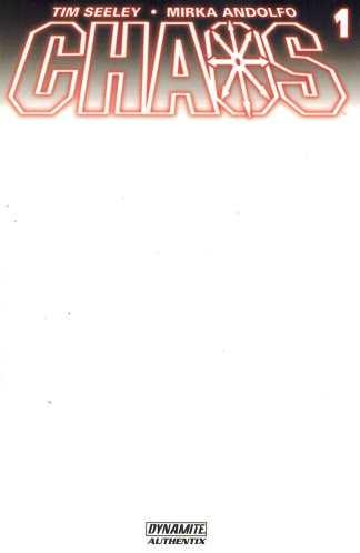 Chaos #1 Blank Sketch Authentix Variant Dynamite Comics 2014 Purgatori Chastity