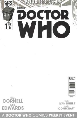 Doctor Who Four Doctors 2015 #1 Blank Sketch Variant Titan Comics