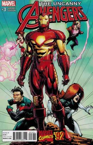 Uncanny Avengers #3 1:25 Portacio Marvel 92 Variant ANAD 2015