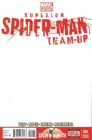 Superior Spider-Man Team-Up #1 Blank Sketch Variant Marvel NOW