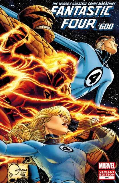 Fantastic Four #600 1:50 Joe Quesada Color Variant Marvel Comics Hickman